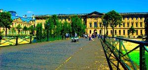 Le pont des Arts côté Louvres photographié pour www.la-relation-