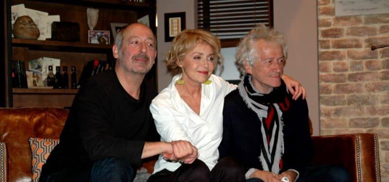 Fanny Cottençon, Sam Karmann et Jean-Luc Moreau à la conférence de presse sur Petits crimes conjugaux