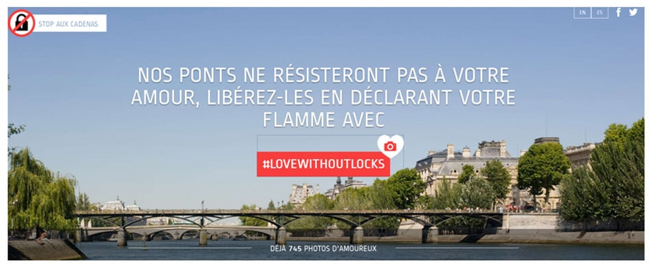 no love locks - le site de la mairie de Paris sur les selfis
