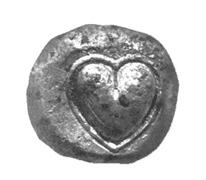 le coeur symbole de l'amour, une pièce d'argent de Cyrène
