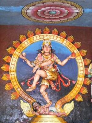 Kali-dansant sur shiva