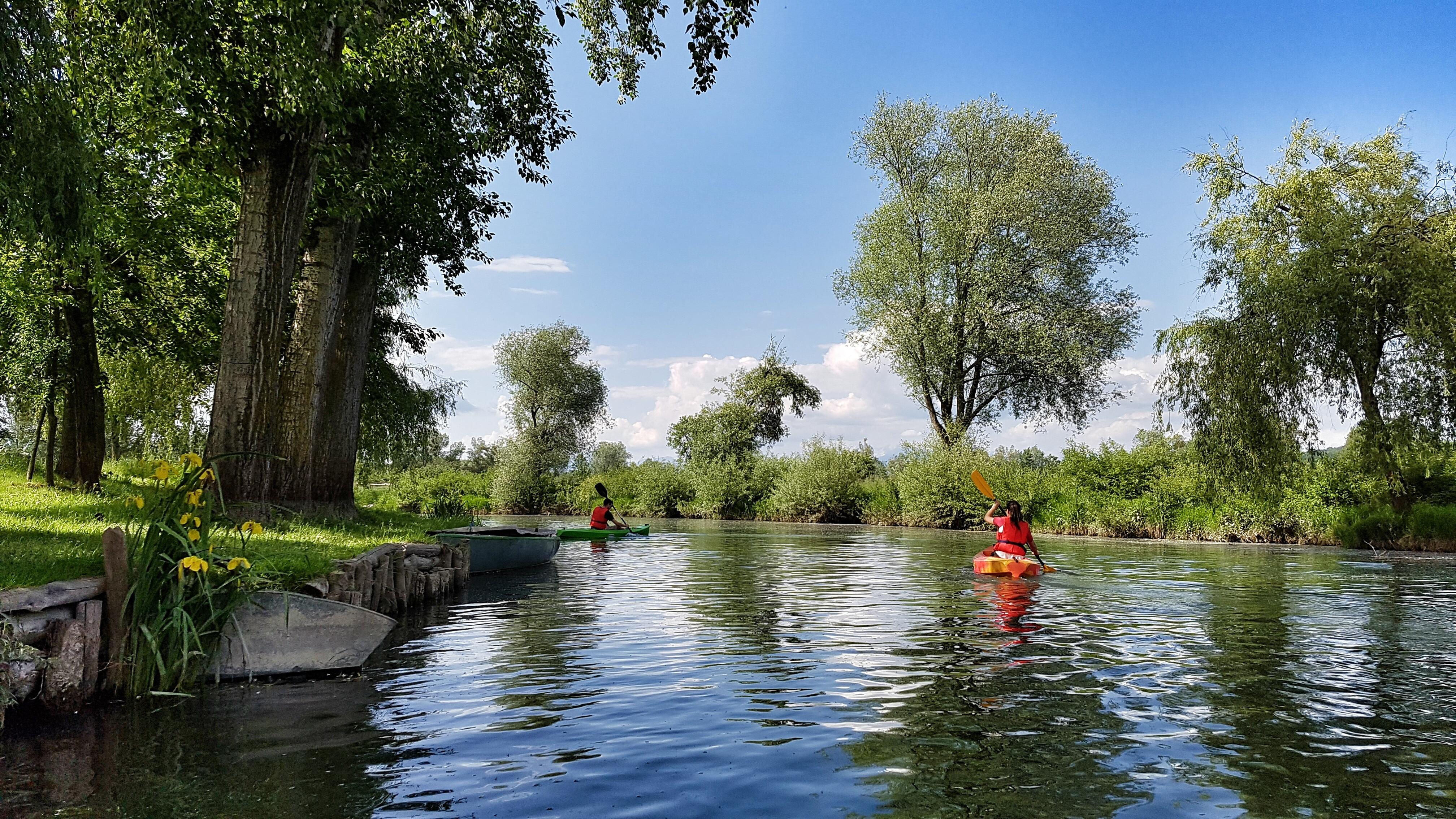 Week-end romantique, parc et canoé